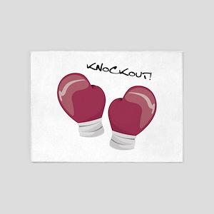 Knockout Gloves 5'x7'Area Rug