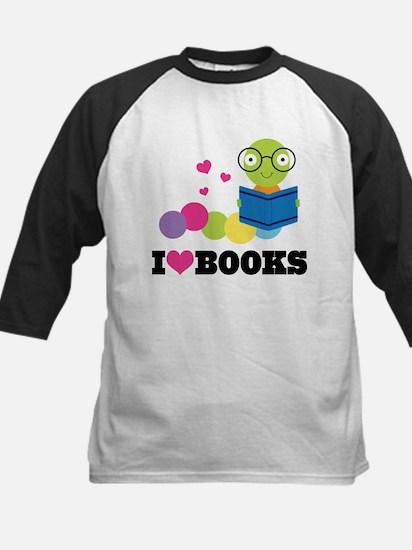 Bookworm I Heart Books Baseball Jersey