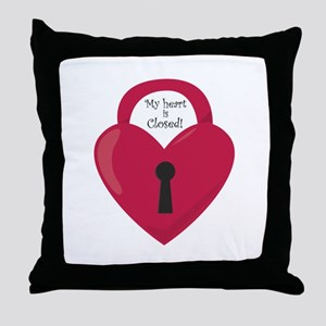 My Heart Is Closed! Throw Pillow