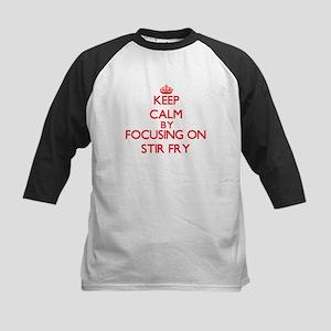 Keep Calm by focusing on Stir-Fry Baseball Jersey
