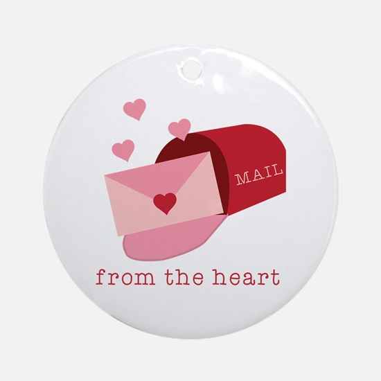 Heart Mail Ornament (Round)
