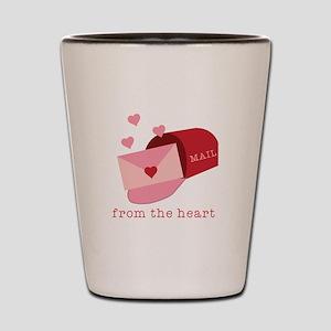 Heart Mail Shot Glass