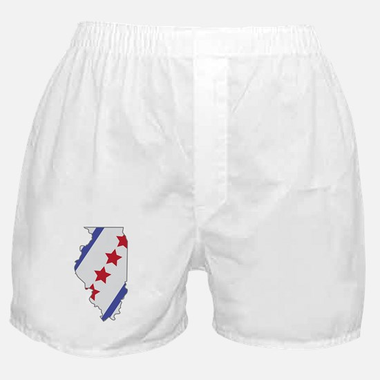 Illinois Map Boxer Shorts