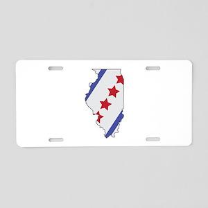 Illinois Map Aluminum License Plate