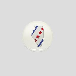 Illinois Map Mini Button