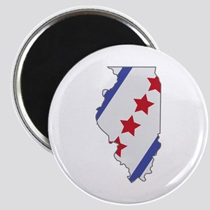 Illinois Map Magnets