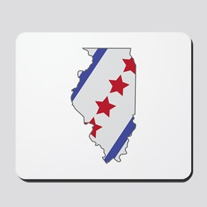 Illinois Map Mousepad