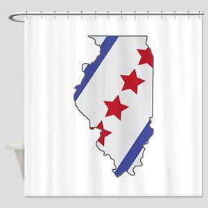 Illinois Map Shower Curtain
