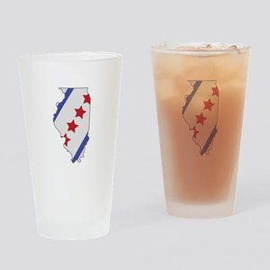 Illinois Map Drinking Glass