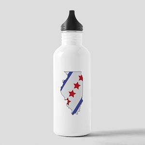 Illinois Map Water Bottle
