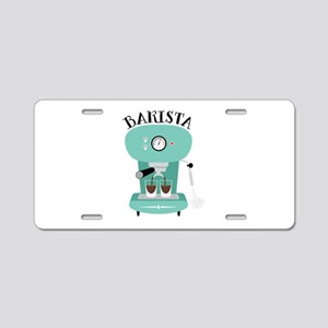 Coffee Machine Barista Aluminum License Plate