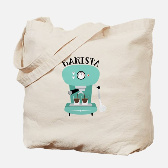 Coffee Machine Barista Tote Bag