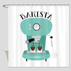 Coffee Machine Barista Shower Curtain