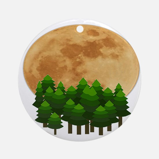 SET THE MOON Round Ornament