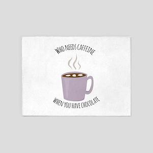 Who Needs Caffeine 5'x7'Area Rug