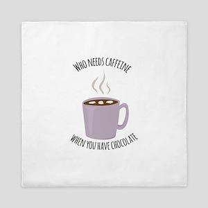 Who Needs Caffeine Queen Duvet