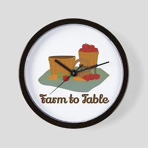 Farm to Table Wall Clock