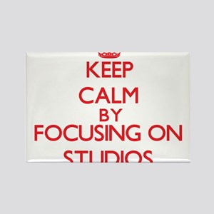 Keep Calm by focusing on Studios Magnets