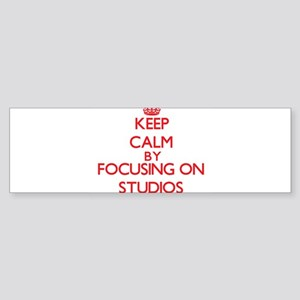 Keep Calm by focusing on Studios Bumper Sticker