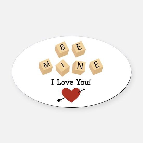 I Love You Oval Car Magnet