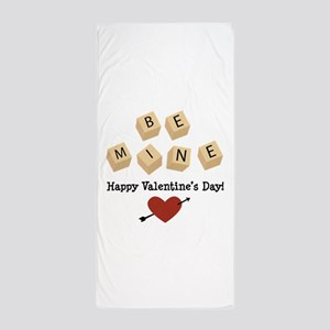 Be Mine Valentine Beach Towel