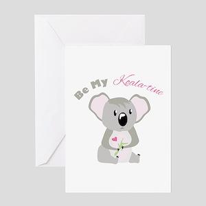 Koala valentine greeting cards cafepress be my koala time greeting cards m4hsunfo
