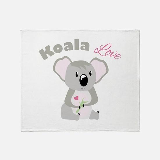 Koala Love Throw Blanket