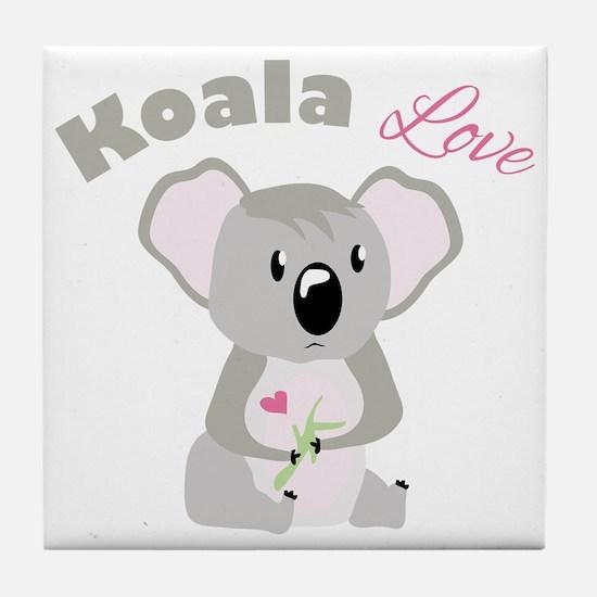 Koala Love Tile Coaster