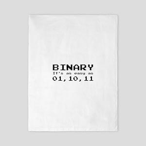 Binary It's As Easy As 01,10,11 Twin Duvet