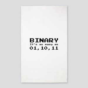 Binary It's As Easy As 01,10,11 3'x5' Area Rug