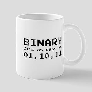 Binary It's As Easy As 01,10,11 Mug