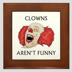 Clowns Aren't Funny Framed Tile