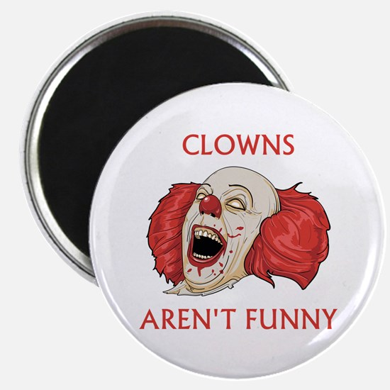 "Clowns Aren't Funny 2.25"" Magnet (10 pack)"