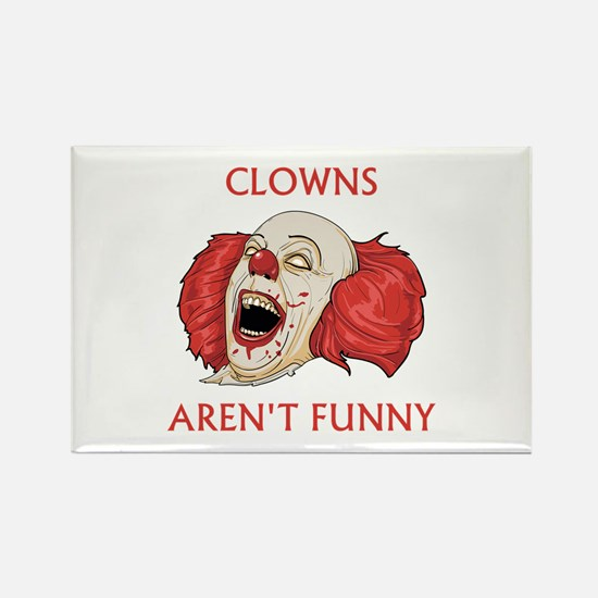 Clowns Aren't Funny Rectangle Magnet