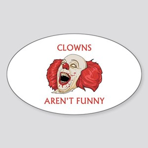 Clowns Aren't Funny Sticker (Oval)