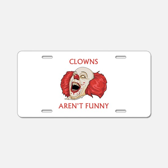 Clowns Aren't Funny Aluminum License Plate