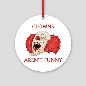 Clowns Aren't Funny Ornament (Round)