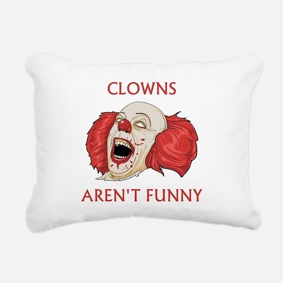 Clowns Aren't Funny Rectangular Canvas Pillow