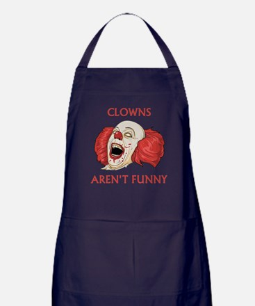 Clowns Aren't Funny Apron (dark)