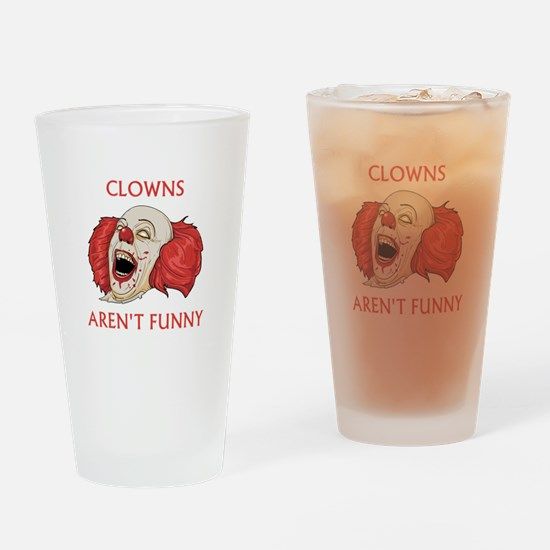 Clowns Aren't Funny Drinking Glass