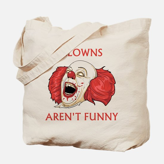 Clowns Aren't Funny Tote Bag