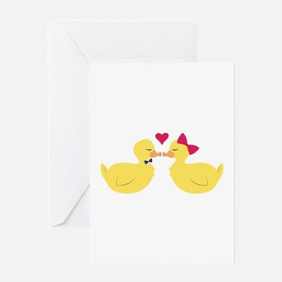 Kiss Ducks Greeting Cards