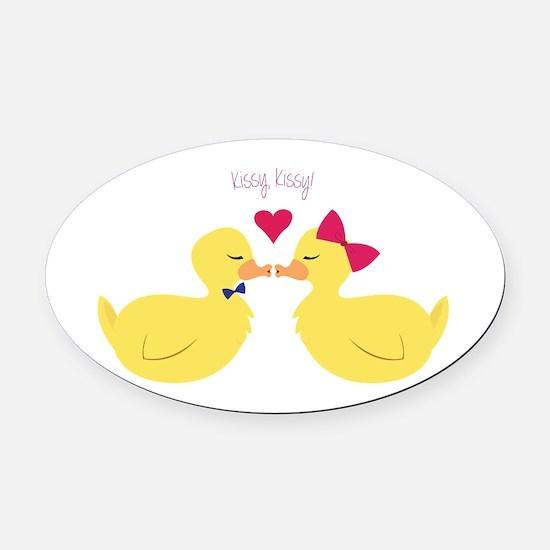 Kissy Kissy Oval Car Magnet