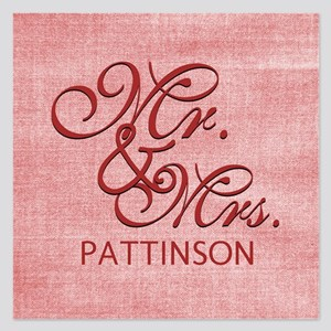 Personalized Family Name Mr 5.25 x 5.25 Flat Cards