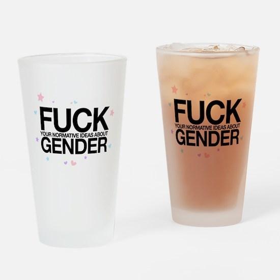 F*CK GENDER Drinking Glass