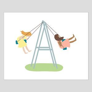 Kids Playground Swing Set Posters