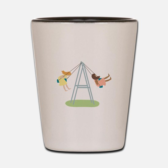 Kids Playground Swing Set Shot Glass