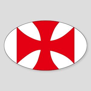 Templar Cross Sticker