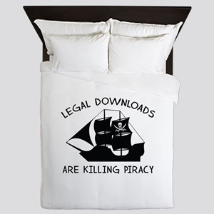 Legal Downloads Are Killing Piracy Queen Duvet