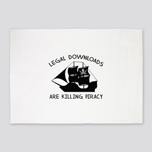 Legal Downloads Are Killing Piracy 5'x7'Area Rug